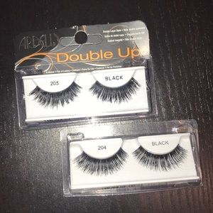 Ardell double up false lashes in 205 and 204 black